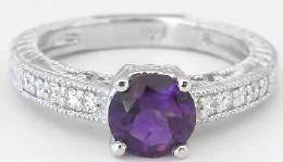 Antique Style Amethyst Rings