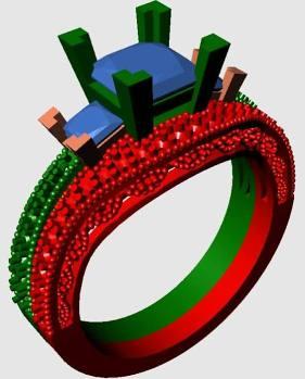 Princess Cut Engagement Ring CAD