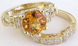 citrine engagement rings in 14k