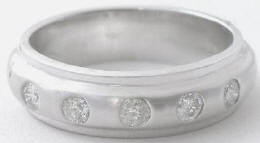 0.35 ctw Burnished Diamond Ring in 14k white gold