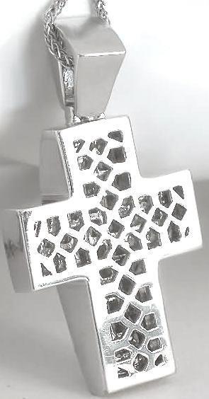 4 5 Ctw Princess Cut Diamond Cross Pendant In 18k White Gold Dp 1167