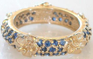 2 ctw Pave Blue Sapphire Eternity Band