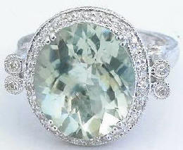 Green Amethyst Ring (Prasiolite)
