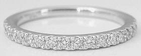 Four Prong 0.30 ctw Diamond Anniversary Band in 14k white gold