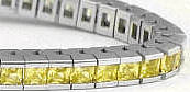 Yellow Sapphire Tennis Bracelets in 14k  white gold