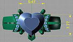 Custom design CAD example from MyJewelrySource