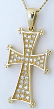 1/2 carat Diamond Cross in 18k yellow gold