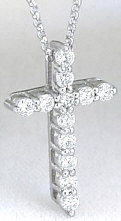 1/2 carat Diamond Cross in Platinum