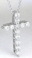Classic 0.50 ctw Diamond Cross in 14k white  gold