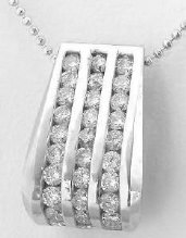 1.2 ctw Diamond Slide Pendant in 14k white gold