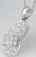 Pave Diamond Sandal in 14k white gold