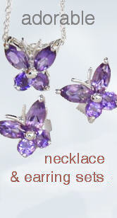 Gemstone Necklace and Earring Sets