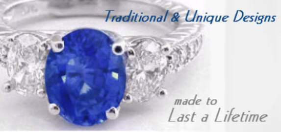 Sapphire Rings and Gemstone Jewelry.  Made to last a lifetime from MyJewelrySource.