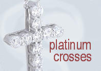 Diamond Crosses in Platinum