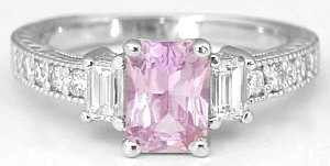 Light Pink Sapphire Rings from MyJewelrySource