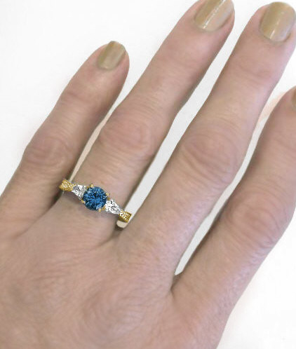 London Blue Topaz Past Present Future Rings In 14k Gold