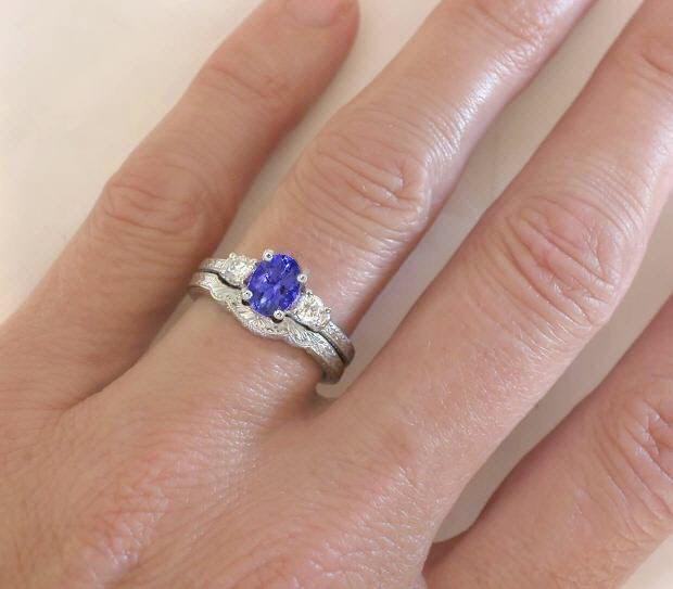 Non Precious Stone Engagement Ring
