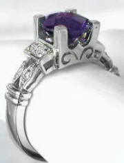 White Gold Amethyst Rings