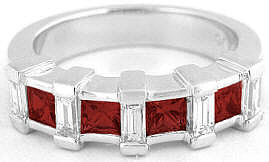 Garnet Gemstone Wedding Anniversary Rings