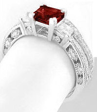 Garnet Wedding Set Vintage