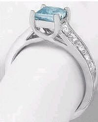Lucida Basket with Princess Cut Aquamarine Engagement Rings