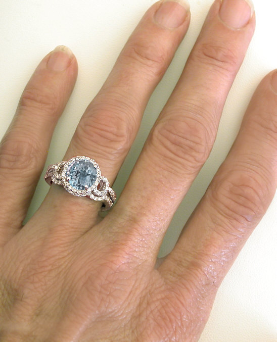 Ct Blue Topaz Ring On Hand