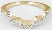 Matching Contoured Diamond Band in 14k