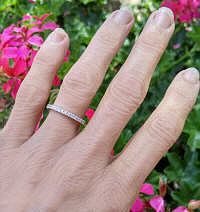 white gold stackable diamond ring or anniversary band