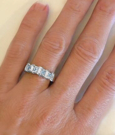 Pink Stone Wedding Rings 007 - Pink Stone Wedding Rings