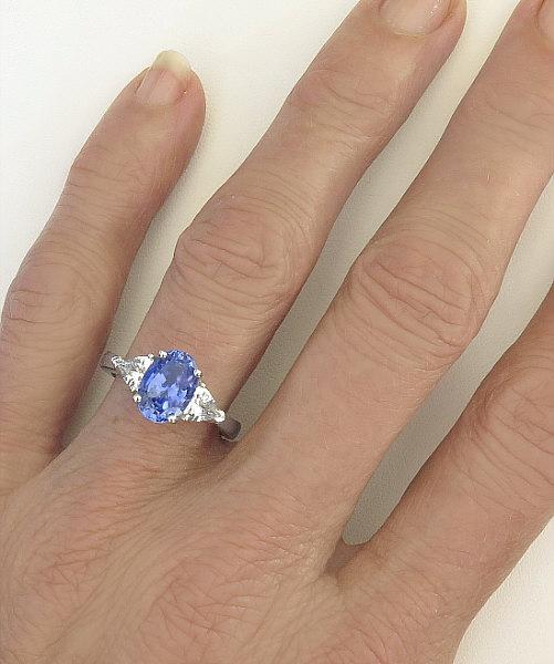 Trillion Cut Yellow Sapphire Ring