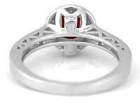 Diamond Engagement Rings in White Gold with Garnet