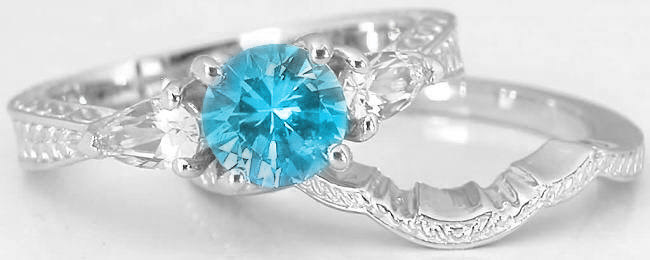 turquoise silver starlight ring birthstone wedding pricole rings shop december