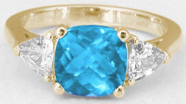 December Birthstone Rings in 14k Yellow Gold
