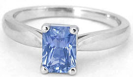 1 carat Sapphire Solitaire Ring in 14k