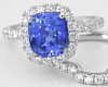 Cushion Blue Sapphire Ring with Diamond Halo