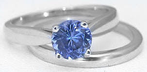 Solitaire Sapphire Engagement Ring