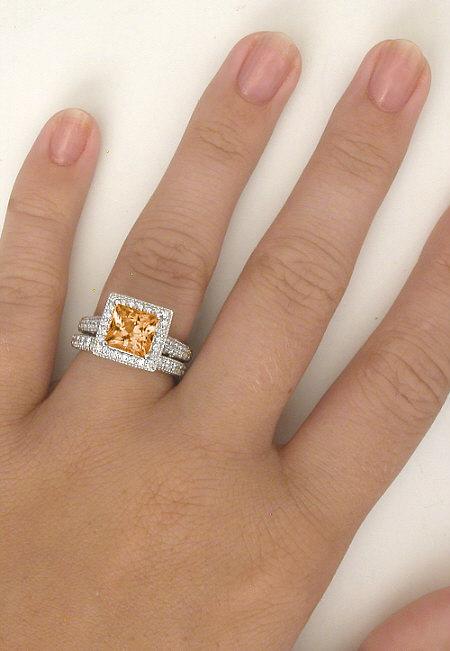 Color Stone Diamond Wedding Rings