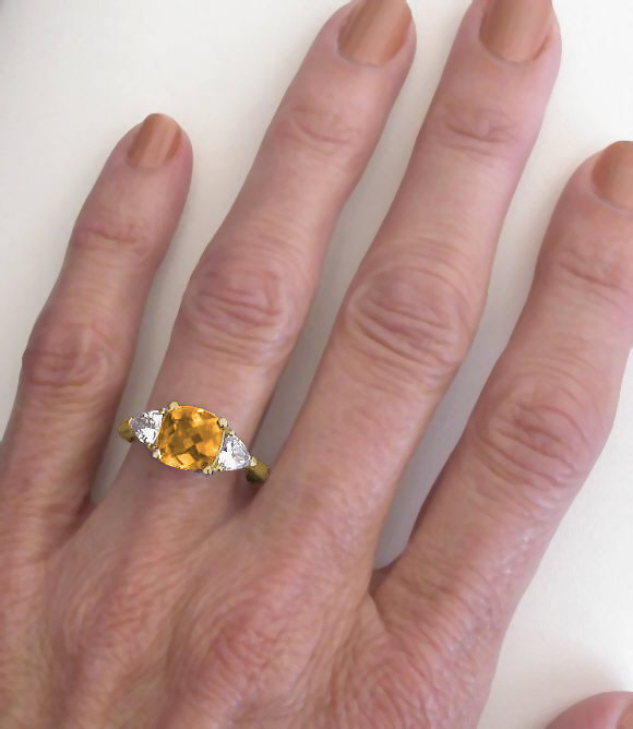 rings citrine ring silver wedding on real engagement gemstone glittering carat band