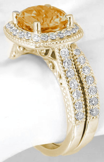 Vintage Yellow Sapphire Engagement Rings