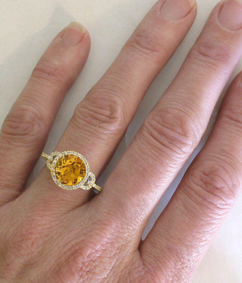 three sapphire rings present future cut yellow in cushion white stone birthstone november gold citrine past ring htm