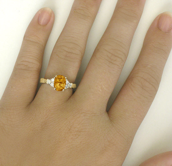 53f86eb768326 Enchanting Vintage Style 1.50 ctw Citrine and Diamond Ring in 14k yellow  gold