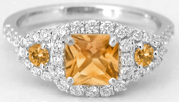 and diamond gold ring jewelista brumani citrine yellow