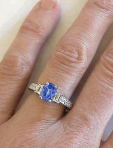 Ceylon Sapphire and Diamond Engagement Rings