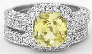 Engagement Rings with Yellow Sapphire