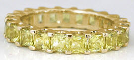 Shared Prong Yellow Sapphire Eternity Band in Gold