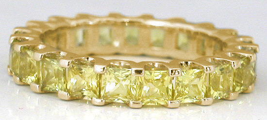 Shared G Yellow Shire Eternity Band In Gold