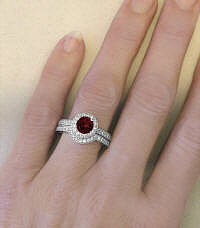 Garnet Birthstone Engagement Rings