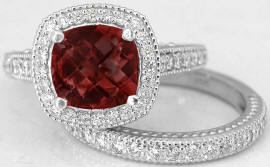 Garnet Engagement Rings Antique Style