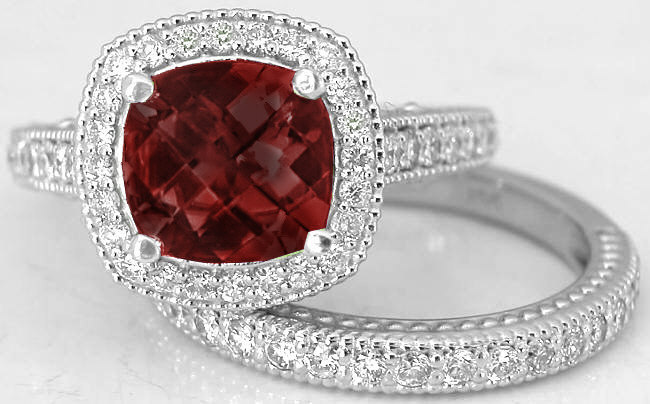 Garnet Engagement Rings Antique Style ...