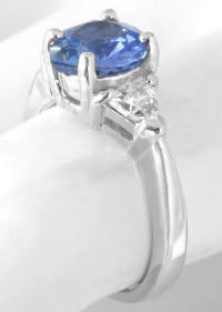 Past Present Future Sapphire White Sapphire Engagement Ring